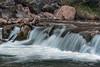 Small waterfall, close-up<br /> <br /> Virgin river at Temple of Shinawava, Zion National Park, Utah