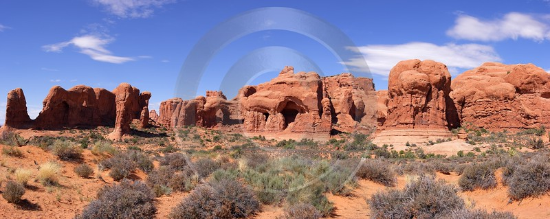 Moab Arches National Park Elephant Arch Utah Red Forest Fine Art Landscapes Fog Pass Island - 007809 - 04-10-2010 - 10332x4122 Pixel