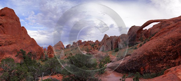 Moab Arches National Park Partition Arch Utah Red Art Photography For Sale Landscape Photography - 007710 - 03-10-2010 - 9491x4270 Pixel