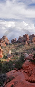 Moab Arches National Park Partition Arch Utah Red Rain Landscape Photography Order Spring - 007685 - 03-10-2010 - 4000x9832 Pixel