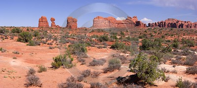Moab Arches National Park Rock Pinnacles Utah Red Art Prints Stock Images Fine Art Giclee Printing - 007607 - 03-10-2010 - 9233x4100 Pixel