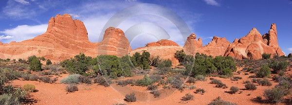 Moab Arches National Park Skyline Arch Utah Red Stock Images Cloud - 007890 - 04-10-2010 - 11233x4064 Pixel