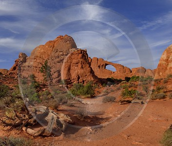 Moab Arches National Park Skyline Arch Red Rock Beach Color Stock Image Pass Town - 012429 - 10-10-2012 - 7047x5992 Pixel
