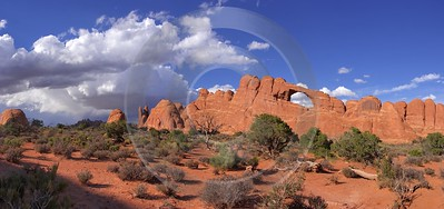 Moab Arches National Park Skyline Arch Utah Red Color Sunshine Art Printing - 007915 - 04-10-2010 - 8645x4072 Pixel