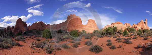 Moab Arches National Park Skyline Arch Utah Red Lake Photography Prints For Sale Creek - 007892 - 04-10-2010 - 11327x4130 Pixel