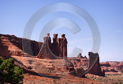 Moab Arches National Park Three Gossips Utah Red Art Photography Gallery Art Photography For Sale - 007591 - 03-10-2010 - 5972x4100 Pixel