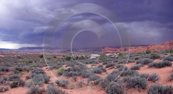Moab Arches National Park Thunderstorm Lightning Utah Red Spring Stock Pictures - 007924 - 04-10-2010 - 8245x4465 Pixel
