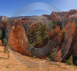 Bryce Canyon Overlook Trail Utah Autumn Red Rock Fine Arts Leave Art Photography Gallery - 015027 - 01-10-2014 - 6832x6321 Pixel