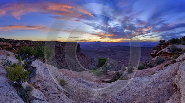 Moab Canyonlands National Park Sunset Overlook Grand Viewpoint Autumn Stock Pictures Leave Outlook - 012334 - 09-10-2012 - 13099x7298 Pixel