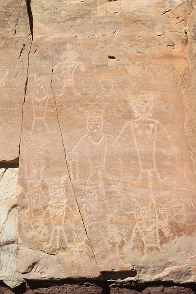 Petroglyphs at McConkie Ranch outside Vernal, UT