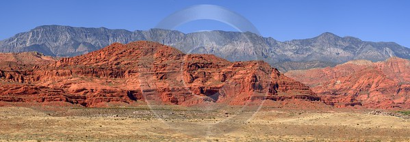 Pine Valley Mountains Silver Reef Utah Red Rock Barn Fine Art Pictures Country Road - 009519 - 13-10-2011 - 13818x4798 Pixel