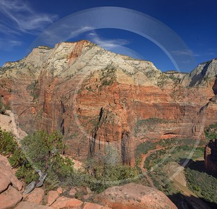 Zion National Park Angels Landing Trail Utah Autumn Sunshine Sky Fine Art Fotografie Fine Art Print - 015118 - 30-09-2014 - 7159x6901 Pixel