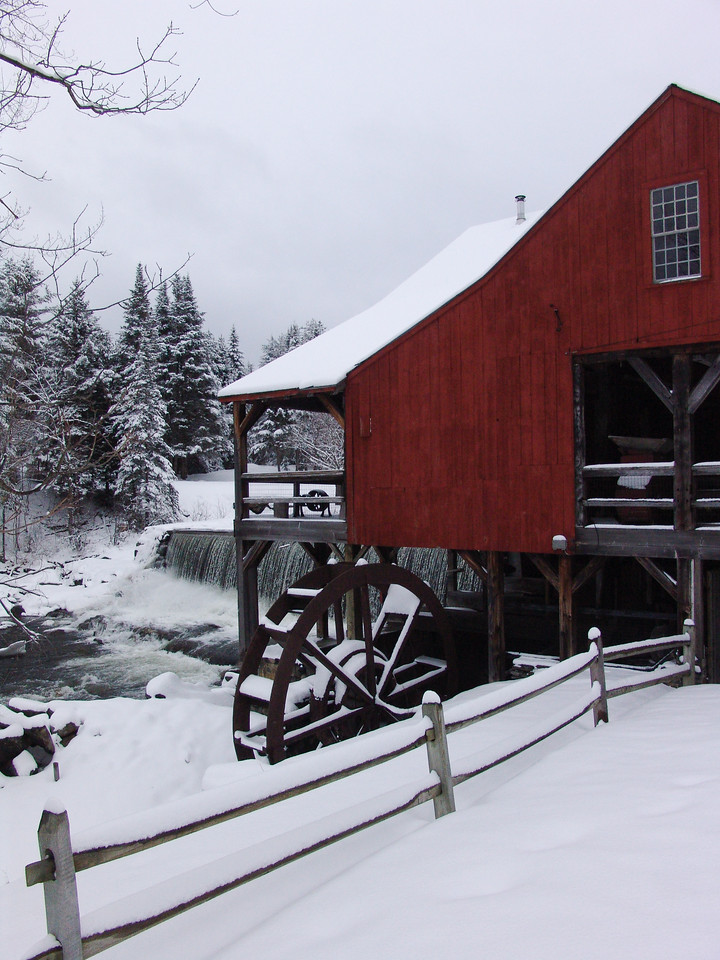 Old Mill in Winter, Weston