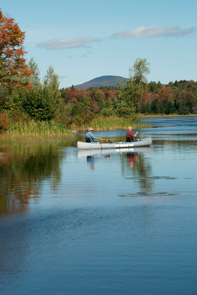 Canoeing on Star Lake