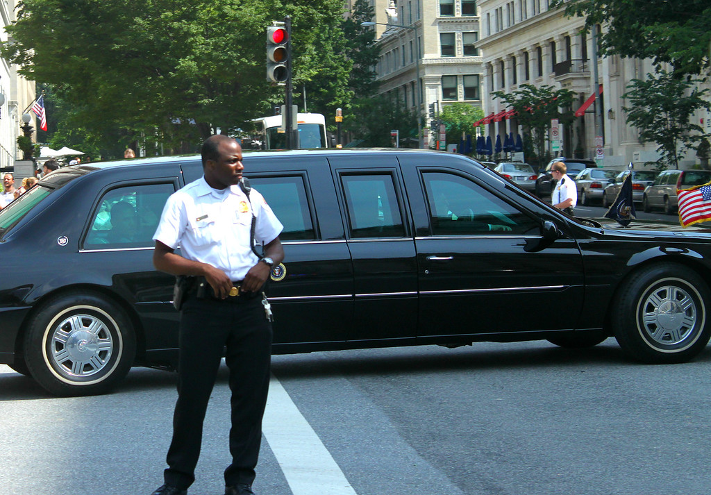 President Obama leaving the White House.