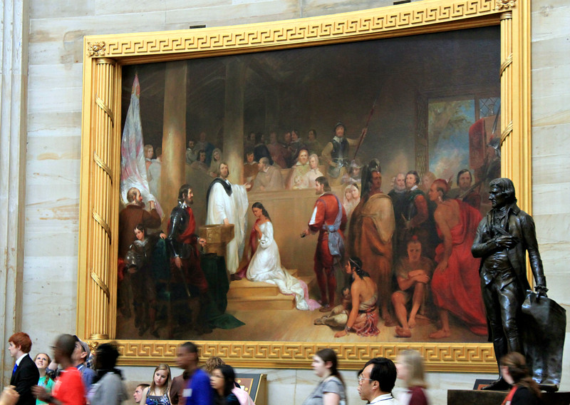 The Baptism of Pocohontas, by artist John Gadsby Chapman.