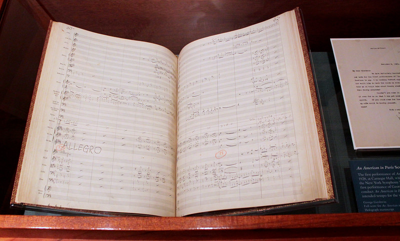 An American in Paris, hand-written score by George Gershwin. At the Library of Congress.
