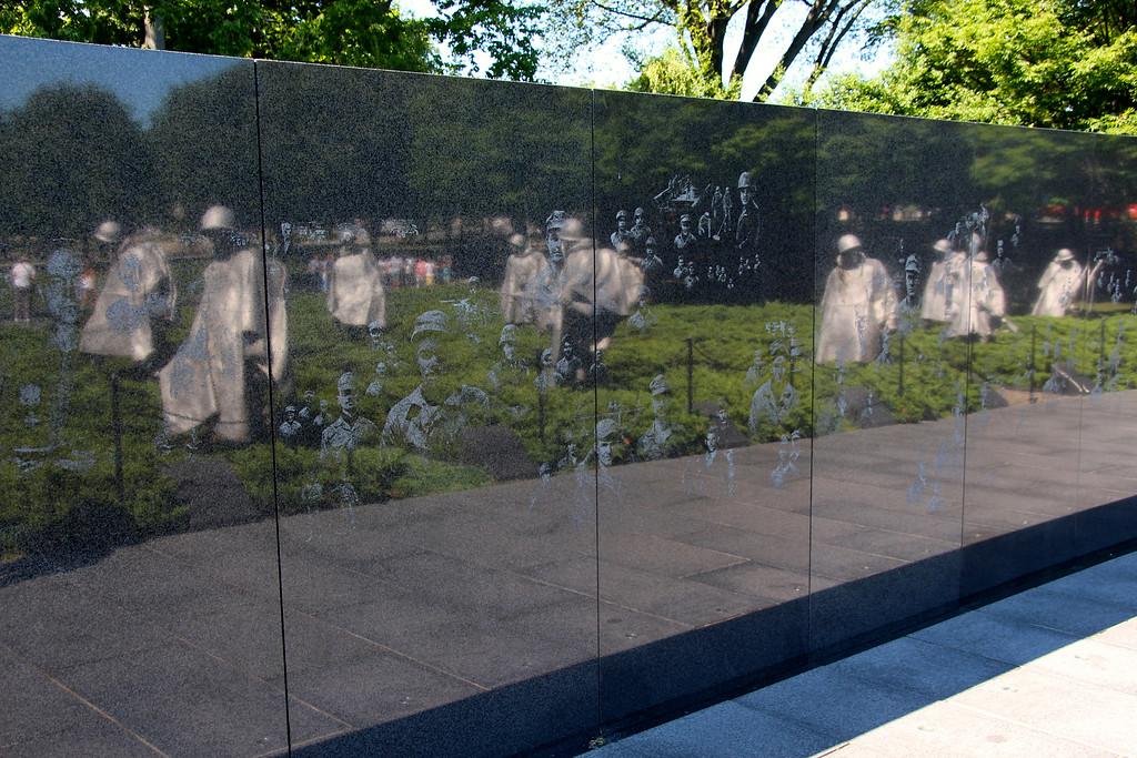 Ghosts at the Korean War Memorial - Washington D.C.