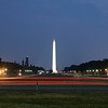 Washington Monument at sunset (Long exposure)