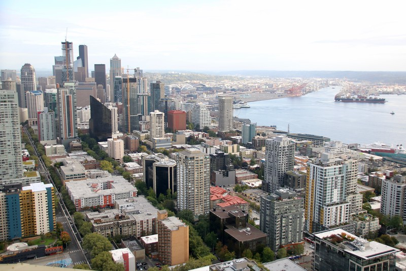 View of Downtown from the Space Needle