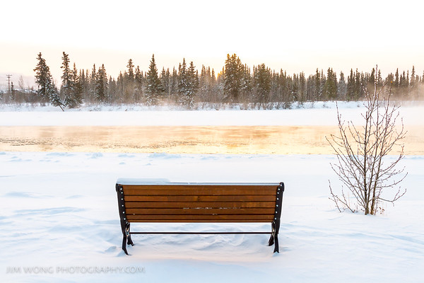 Bench, Yukon River, Whitehorse