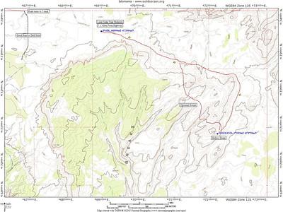 //www.ajroadtrips.com/go/t/utah/escalante/islomaniadome  http://www.kieckbusch.de/html/wb-volcano.html description du chemin par Harris Wash, c'est la même longueur...: http://www.zehrer-online.de/htm_hikes_volcano.htm