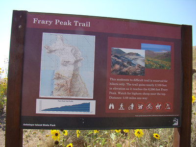Frary Peak is the highest point on Antelope Island. It provides outstanding views of the Great Salt Lake, Wasatch Mountains and several other islands. The peak is named for George Frary who was a homesteader on the island form 1890 to 1897.