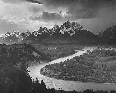 Snake River and the Tetons, Ansel Adams, The Mural Project, 1942.