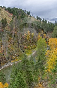 Alpine Wyoming River Tree Autumn Color Colorful Fall Snow Fine Art Landscape - 015557 - 21-09-2014 - 6499x9972 Pixel