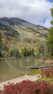 String Lake Grand Teton Wyoming Tree Autumn Color Cloud Stock Pictures Country Road Forest - 015529 - 23-09-2014 - 6985x12309 Pixel