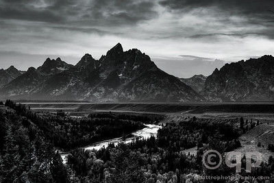 TETONS BLACK AND WHITE
