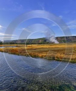 Yellowstone National Park Wyoming Biscuit Basin Hot Springs Fine Art Landscape Senic Stock Pictures - 011746 - 30-09-2012 - 6748x8083 Pixel
