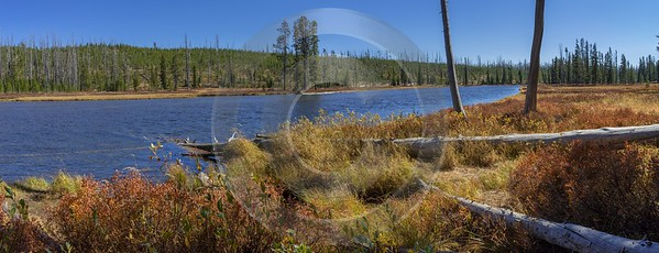 Lewis River Yellowstone National Park Wyoming View Autumn Beach Royalty Free Stock Images Shoreline - 015338 - 25-09-2014 - 9937x3816 Pixel
