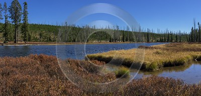 Lewis River Yellowstone National Park Wyoming View Autumn Fine Arts Photography Ice Fine Art Prints - 015336 - 25-09-2014 - 14596x6955 Pixel