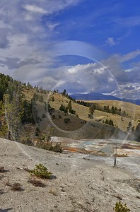 Yellowstone National Park Wyoming Mammoth Hot Springs Geyser Panoramic Sale - 011721 - 28-09-2012 - 5028x7623 Pixel