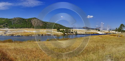 Yellowstone National Park Wyoming Midway Geyser Basin Hot Outlook Grass Royalty Free Stock Photos - 011790 - 30-09-2012 - 15585x7594 Pixel