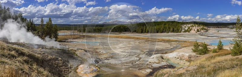 Norris Geyser Basin Trail Yellowstone National Park Wyoming Western Art Prints For Sale - 015285 - 26-09-2014 - 21705x6964 Pixel