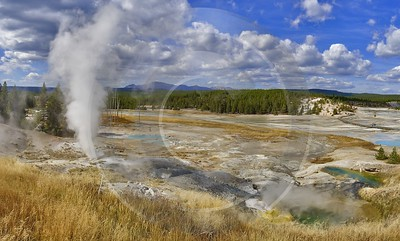 Yellowstone National Park Wyoming Norris Geyser Basin Hot Country Road Art Photography For Sale - 011821 - 30-09-2012 - 16267x9806 Pixel