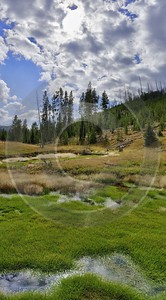 Yellowstone National Park Wyoming Grand Loop Road Swamp Art Photography Gallery Stock Image - 011705 - 28-09-2012 - 7126x12888 Pixel