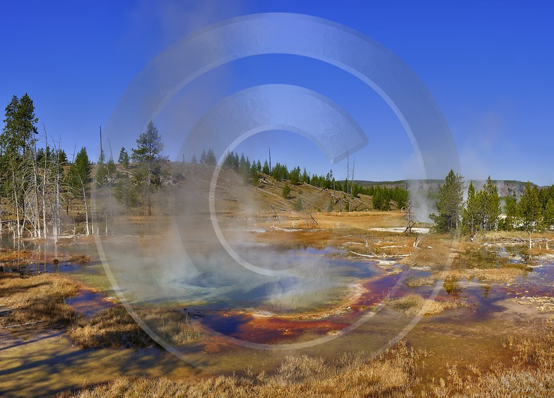 Yellowstone National Park Wyoming Upper Geyser Basin Hot Fine Art Landscapes - 011767 - 30-09-2012 - 10112x7269 Pixel