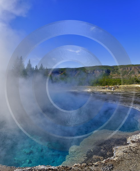 Yellowstone National Park Wyoming Upper Geyser Basin Hot Photo Rock Fine Art Photos Autumn Sky - 011755 - 30-09-2012 - 7100x8674 Pixel