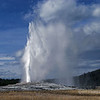 Thar she blows!<br /> <br /> Eruption of old Faithful, Yellowstone National Park, Montana.  This is a classic subject;  I wonder how many photographs have been taken of this geyser since its first recorded description in 1870?