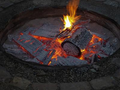 Bonfire at the ranch