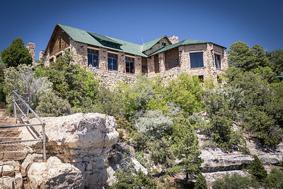 North Rim Grand Canyon NP: The back of the Lodge which overlooks the canyon.