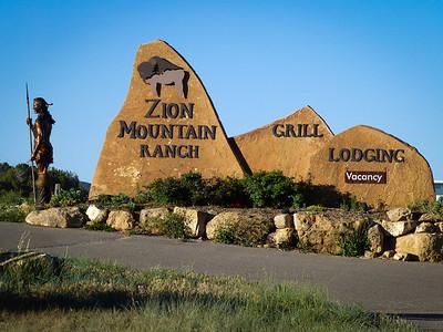 Entrance to Zion Mountain Ranch