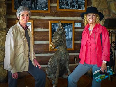 Joyce and Linda  in the  North Rim Lodge.