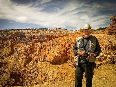 Bryce NP: Dick with the Amphitheater in the background.