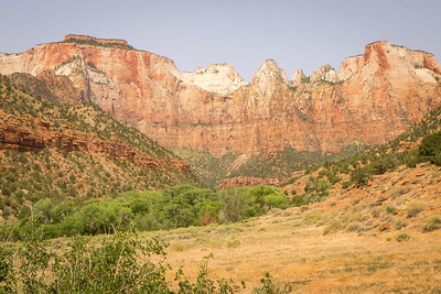 Zion NP: West Temple and Towers of the Virgin.