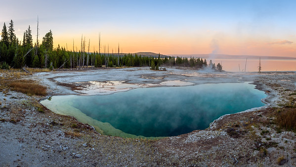 Abyss Pool, West Thumb Geyser Basin, Yellowstone NP