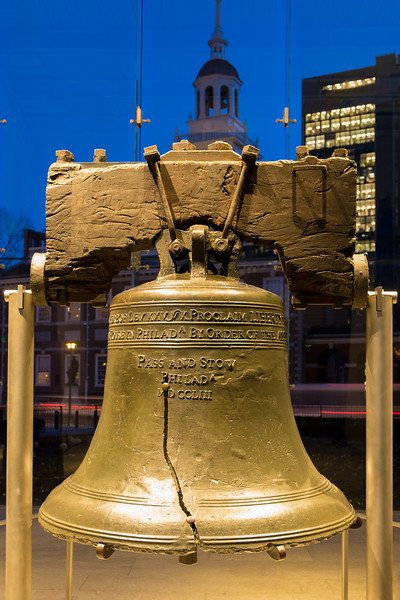 Liberty Bell in Philadelphia, PA, USA.